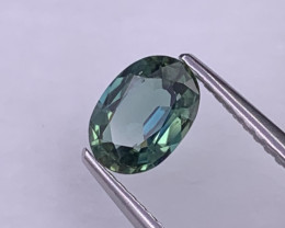 1.05 Cts Top Grade Bluish Green VVS Natural Sapphire Lustrous