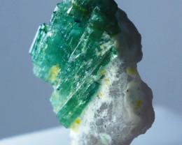 14.60 CT Natural - Unheated Green Tourmaline Crystal Specimen