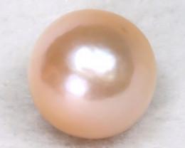 South Sea Pearl 12.3mm Natural Australian Pink Color Salt Water Pearl B1605