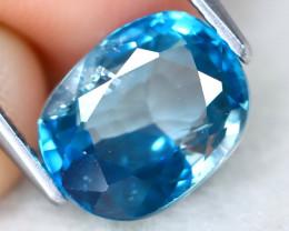 Blue Zircon 3.69Ct Oval Cut Natural Cambodian Blue Zircon B1606