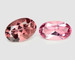 Tourmaline 1.36 Cts 2 Pcs Un Heated Pink Loose Gemstone