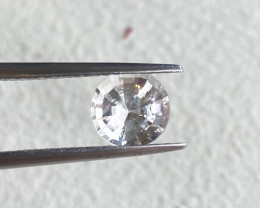 1.63ct unheated white sapphire