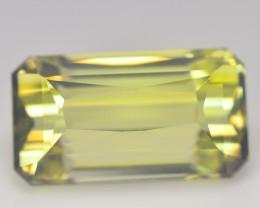 11.8 Cts Brazilian Lemon Quartz Green Gold Emerald step CUt BGC564