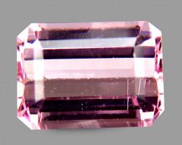 Pink Africa Tourmaline 1.34 Cts Antique Step Cut Emerald shape  BGC218