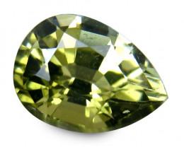 Pretty  Green Africa Tourmaline 1 Cts Antique Step Cut Pear BGC62