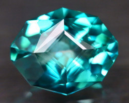 Green Topaz 4.35Ct VVS Master Cut Natural Vivid Leaf Green Topaz AT1102