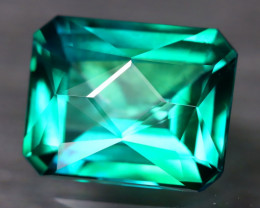Green Topaz 3.02Ct VVS Master Cut Natural Vivid Leaf Green Topaz AT1103