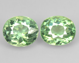 2.84 Cts 2 Pcs Un Heated Natural Green Apatite Loose Gemstone