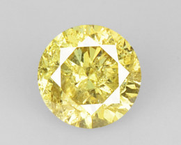 0.13 Cts Untreated Fancy Champagne Color Natural Loose Diamond