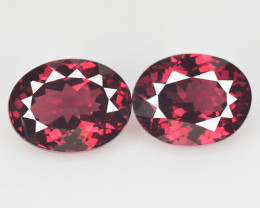 2.99 Cts 2 Pcs Unheated Natural Cherry Pinkish Red Rhodolite Garnet Gemston