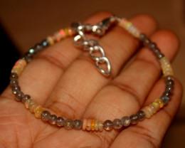 15 Crts Natural Welo Opal & Labradorite Beads Bracelet 188