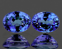 5x4 mm Oval 2 pcs 0.92ct Blue Sapphire [VVS]