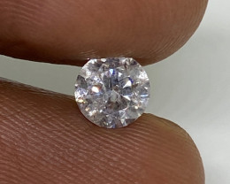 (2) Certified $1642 Fiery 0.71cts SI2 Nat Round White Loose Diamond