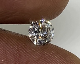 (6) Certified $896 Stunning  0.46cts VS2 Nat Round White Loose Diamond