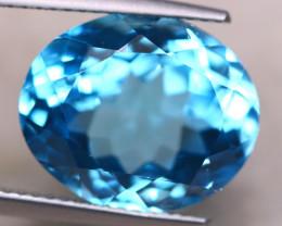 10.66Ct Natural Swiss Blue Topaz Oval Cut Lot A1098
