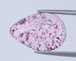 6.36 CTS Underwater Fish Scenario Strawberry Quartz Natural Gemstone