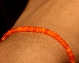 23 Crts Natural Ethiopian Welo Smoked Orange Opal Bracelet 182