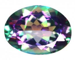 7.92 Cts Rare Fancy Rainbow Colors Natural Mystic Quartz