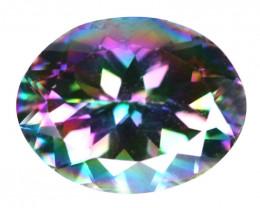 5.61 Cts Rare Fancy Rainbow Colors Natural Mystic Quartz