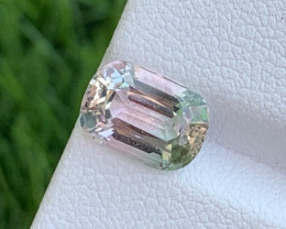 2.70 Cts Amazing Afghanistan Baby Pink Bi Color Natural Tourmaline
