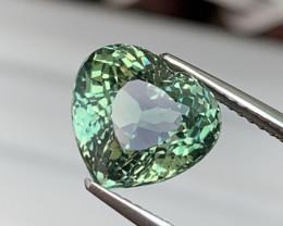 5.15 Cts Custom Heart Shape Blue Green Natural Tourmaline Fine Quality