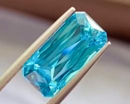 8.1 ct Blue Zircon  100% Natural Gemstone