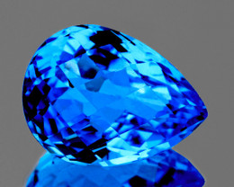 16x11.5 mm Pear Checker 10.48cts Swiss Blue Topaz [VVS]