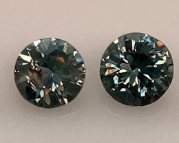 1.2 ctw Sapphires - Matching pair