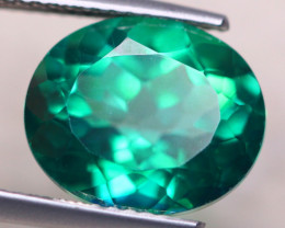6.41ct Natural Green Topaz Oval Cut Lot V7862