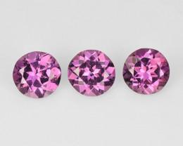 *No Reserve* Umbalite Garnet 0.91 Cts 3 Pcs Pink Color Natural Gemstone