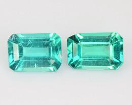 1.78 Cts 2 Pcs Un Heated Natural Green Apatite Loose Gemstone