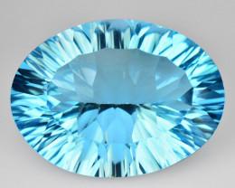 14.08 Carat Millennium Cut Super Swiss Blue Natural Topaz Gemstones