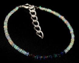 Natural Ethiopian Welo Opal & Smoked Opal Beads Bracelet 3