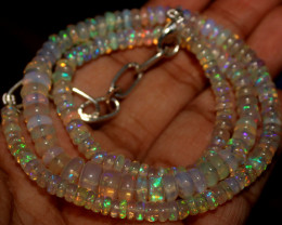 56 Crts Natural Ethiopian Welo Opal Beads Necklace 850