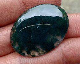 HUGE MOSS AGATE CABOCHON NATURAL GEMSTONE VA4061