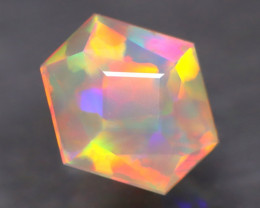 Opal 1.01Ct Precision Master Cut Natural Ethiopian Welo Opal AT1120