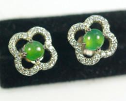 Natural Grade A Jadeite Jade Earring