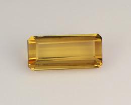 Dazzling 1.3 Cts Africa Tourmaline Yellow Octagon Antique Step Cut BGC162