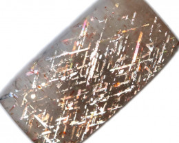 15 $ PER CARAT 6.64 CTS   RAINBOW LATTICE SUNSTONE  -POLISHED  [STS1034]