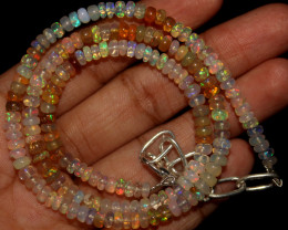 38 Crts Natural Ethiopian Welo Opal Beads Necklace 757