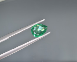 Natural  Emerald 0.76 Cts Top Luster from Zambia