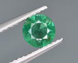 Natural  Emerald 0.81 Cts Top Luster from Zambia
