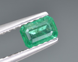Natural  Emerald 0.32 Cts Top Luster from Zambia