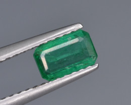 Natural  Emerald 0.56 Cts Top Luster from Zambia