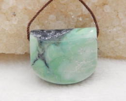 Hand Made Green Turquoise Pendant Bead,,Natural Green Turquoise Gemstone H4