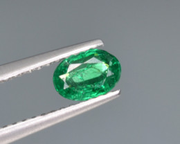 Natural  Emerald 0.37 Cts Top Luster from Zambia