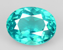 1.55 Cts Un Heated Natural Green Apatite Loose Gemstone