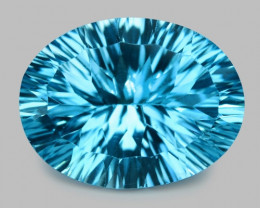 13.70 Carat Millennium Cut Super Swiss Blue Natural Topaz Gemstones