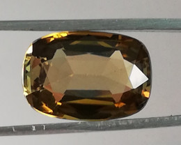 Tourmaline, 4.04ct, golden colour AAA grade, top stone !!