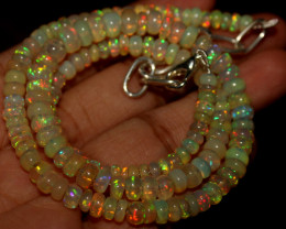 58 Crts Natural Ethiopian Welo Opal Beads Necklace 890